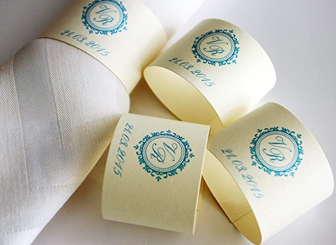 Amazoncom Wedding Napkins rings personalized napkins rings
