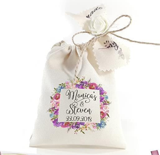Amazon Personalized Wedding Favor Gift Bags Custom Favor Bags