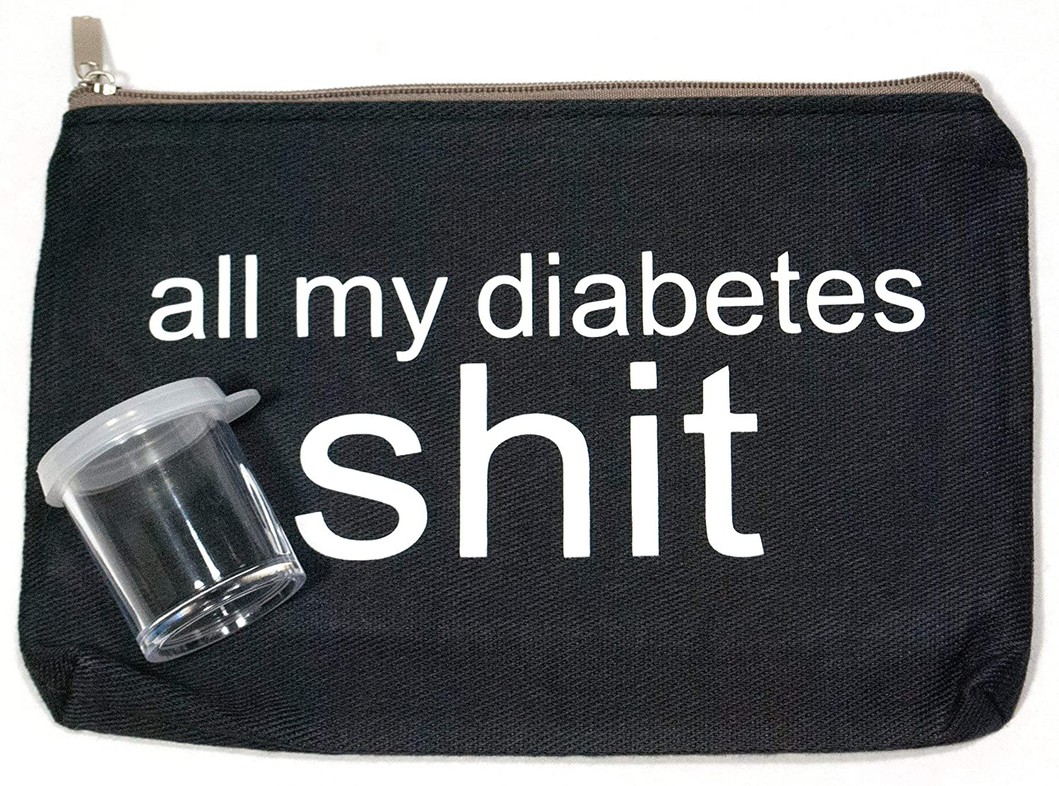 All My Diabetes Stuff Small Supplies Carrying Case Bag (approx. 4.75in x 7in)