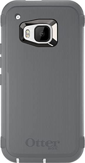quality design 7859f 2f819 OtterBox Defender Case for HTC One M9 - Retail Packaging - Glacier  (White/Gunmetal Grey)