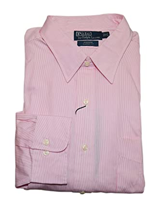 f1412545461 Image Unavailable. Image not available for. Color  RALPH LAUREN Polo Andrew  Mens Pink Stripe ...