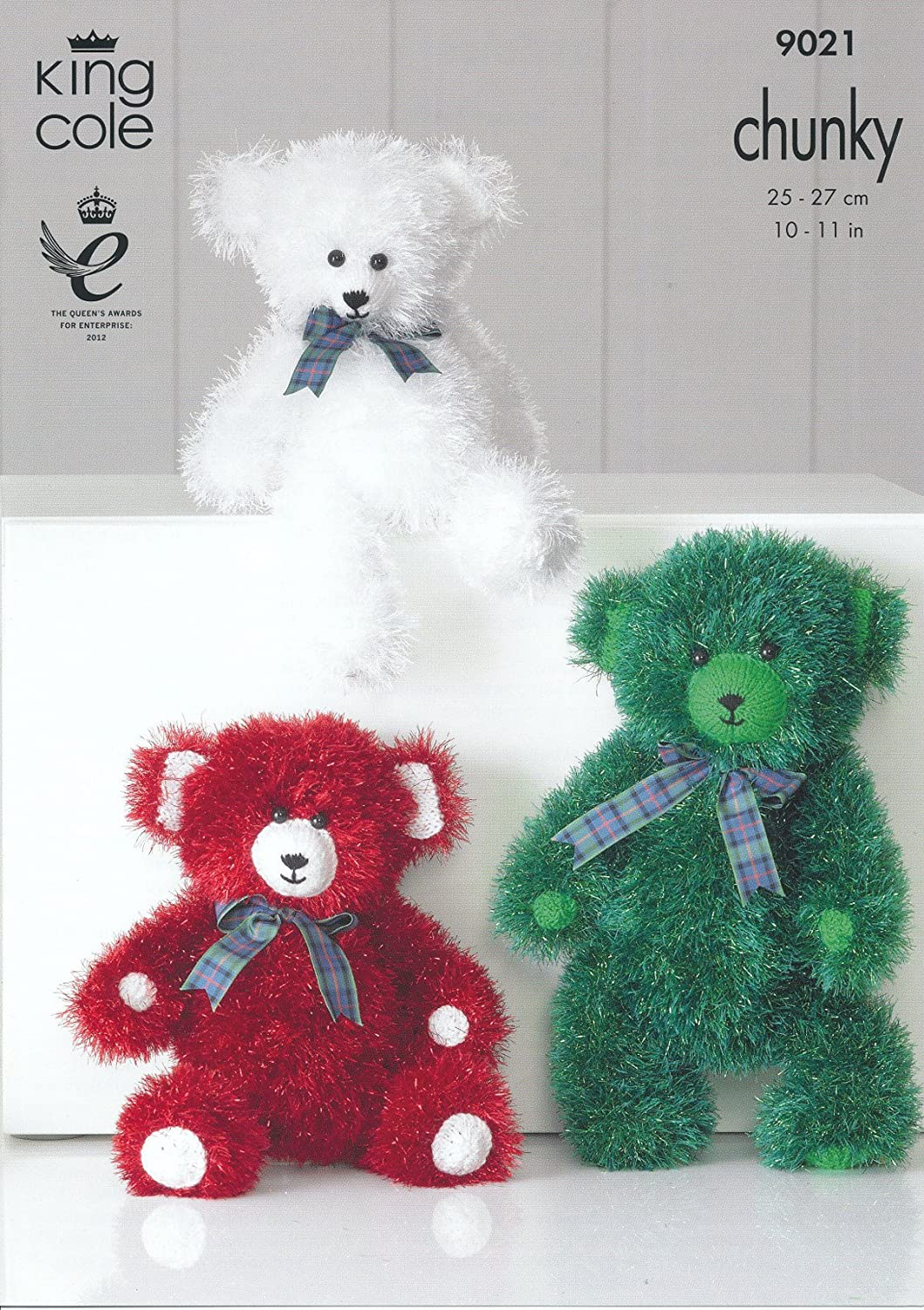 King Cole Knitting Leaflet Tinsel Chunky Teddy Bears 9021: Amazon.co ...