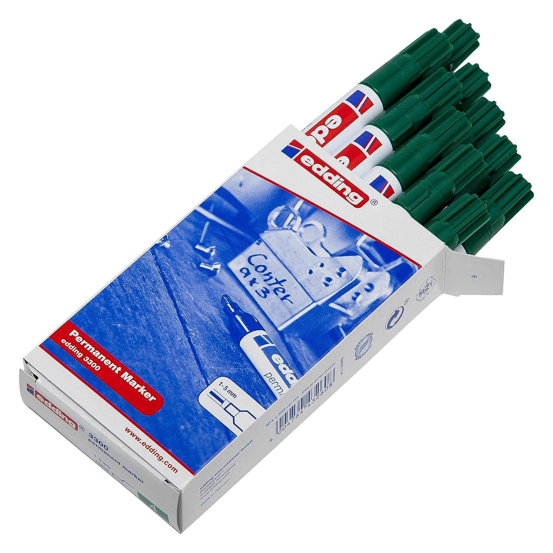 Edding permanent Marker 3300 Grün mit Keilspitze 1-5 mm Strichstärke