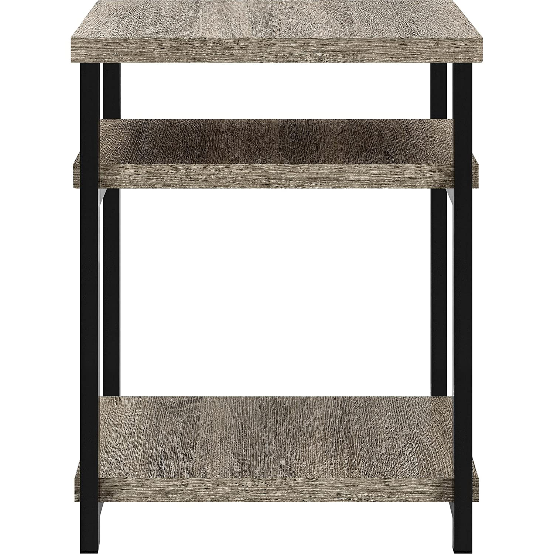 Amazon.com: Ameriwood Home Elmwood End Table, Weathered Oak: Kitchen U0026  Dining