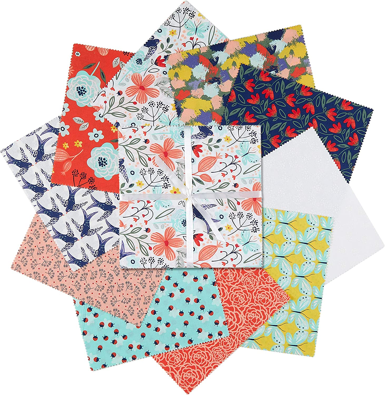 Fabric Editions 3 Wishes Madison 10in Squares 20Pcs Multi