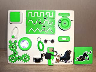 Ferdinand Travel Busy Board - Educational Activity Toy For Toddlers - Montessori Sensory Game For Boys And Girls - Wooden Kids Toy - Locks And Latches Game - Children's Fine Motor Skills Development