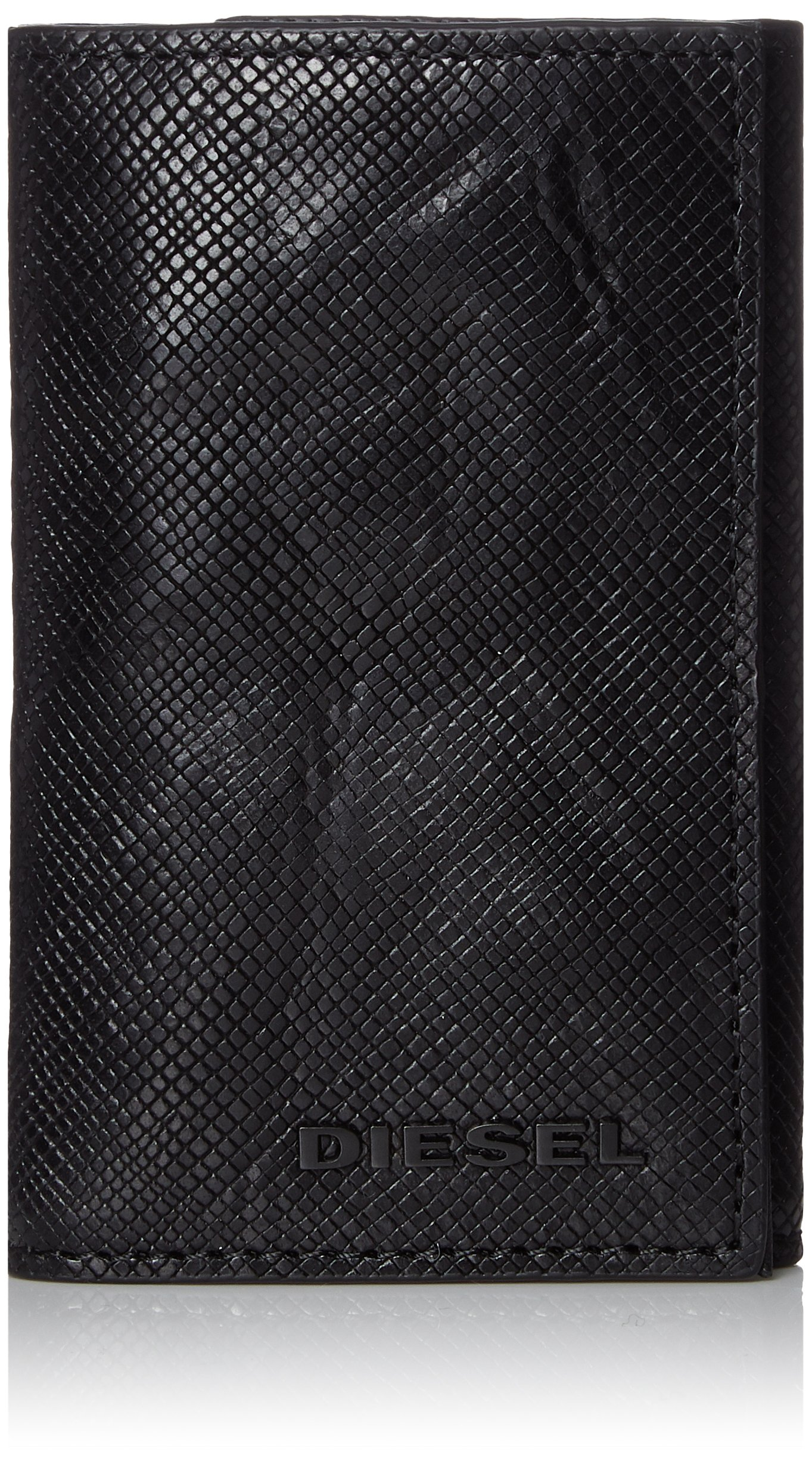 Diesel Men's Sunburst KEYCASE O-Keyring, Black, One Size