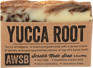 product image for Yucca Root Shampoo & Body Bar Soap with Tea Tree Oil, Vegan, All Natural with Organic Ingredients, Handmade by A Wild Soap Bar (1 pack)