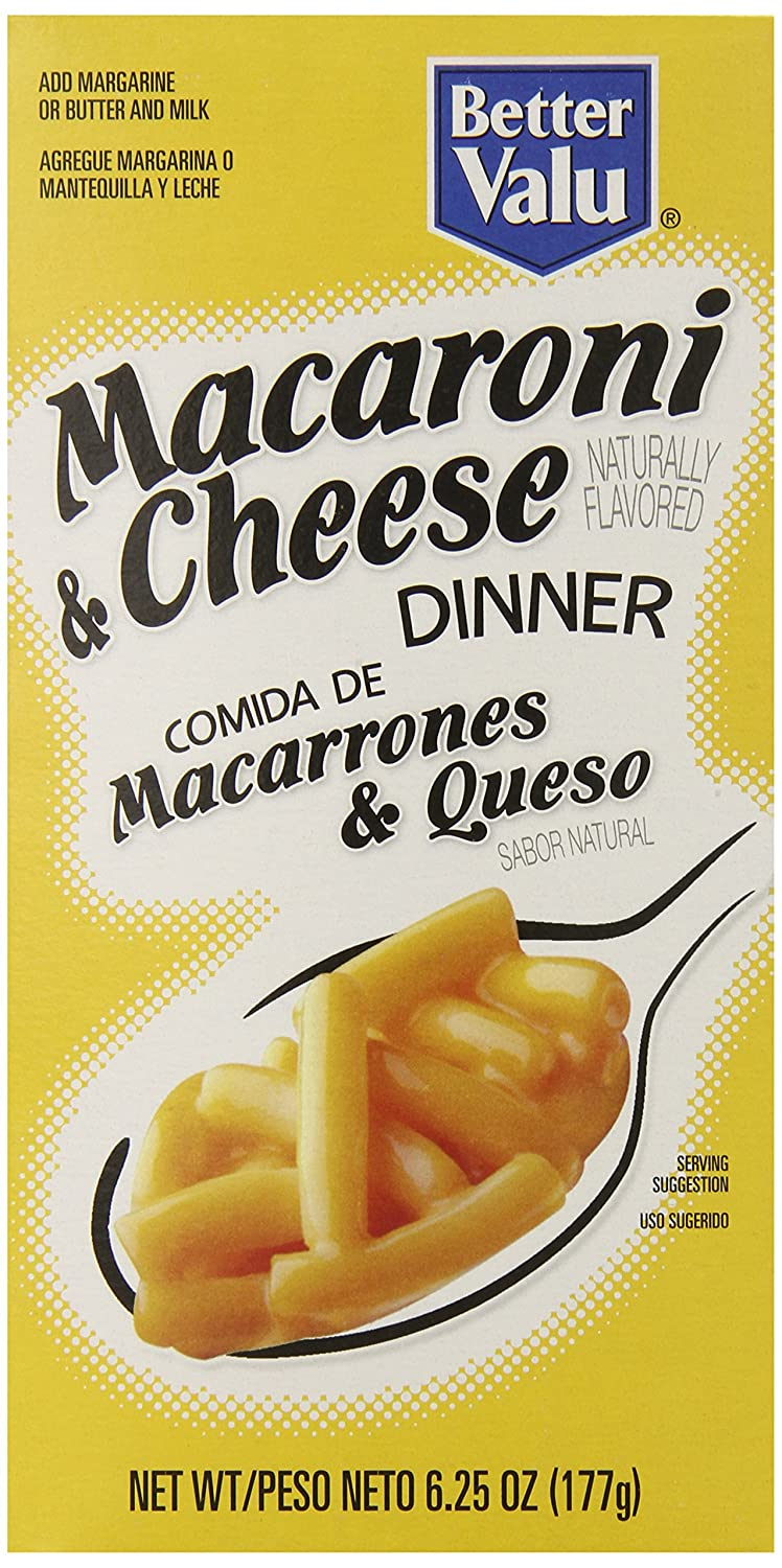 Amazon.com : Better Valu Macaroni and Cheese, 6.25 Ounce (Pack of 24) : Grocery & Gourmet Food