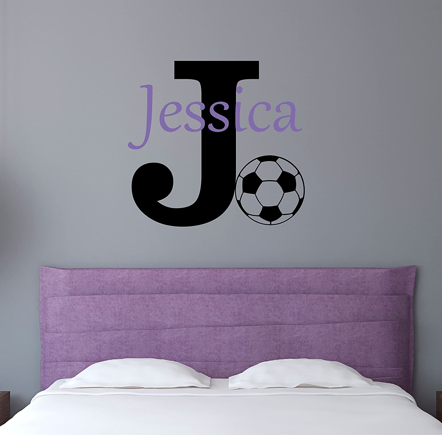 Amazon.com: Custom Name Sports Wall Decal   Boys Girls Personalized Name  Soccer Sports Wall Sticker   Custom Name Sign   Custom Name Stencil  Monogram   Boys ... Part 73