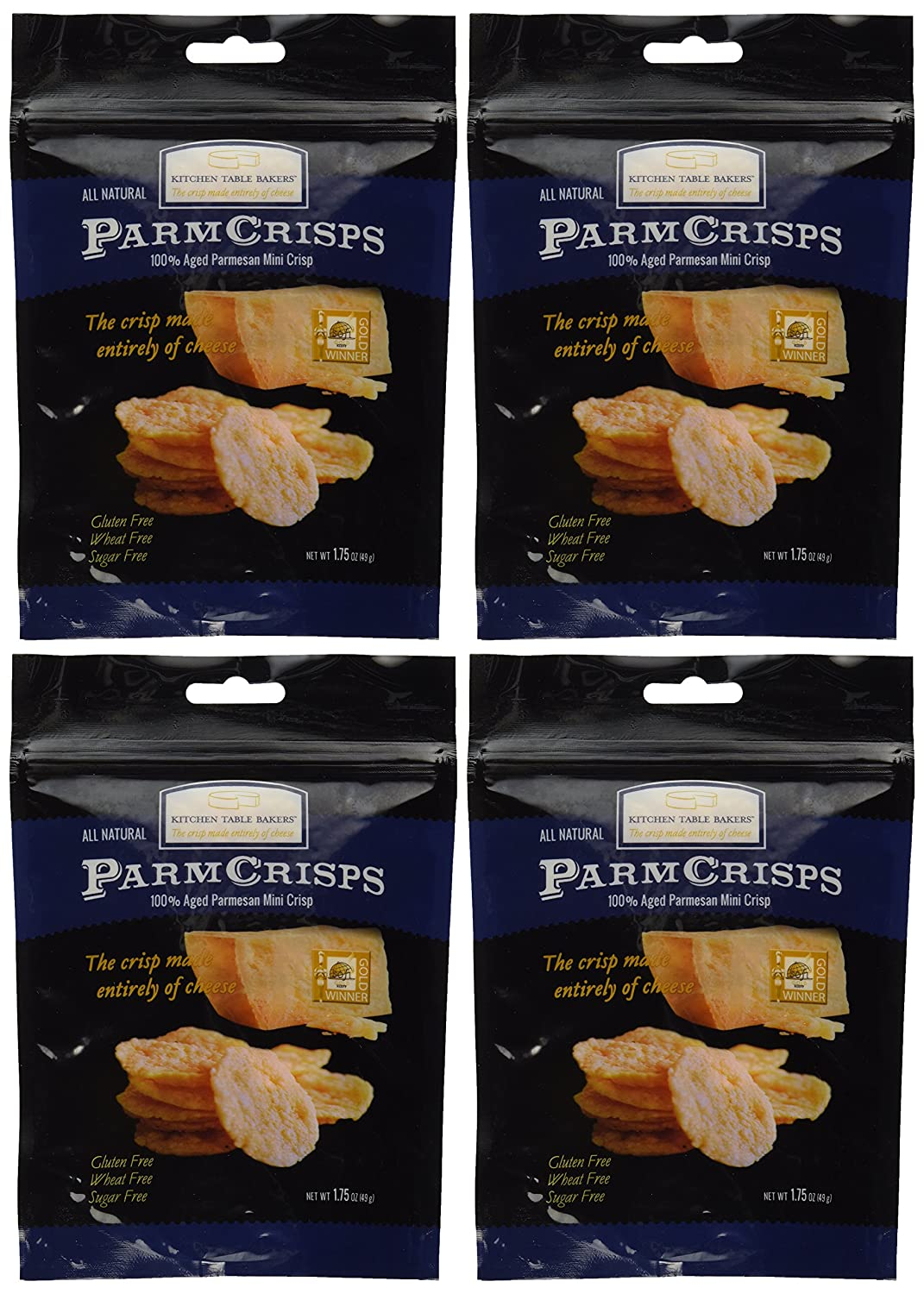 BCXPVA kitchen table bakers Mini Crisps Aged Parmesan Gourmet Cheese Crisps 1 75 Oz Bag By Kitchen Table Bakers Pack of 4 Amazon com Grocery Gourmet Food