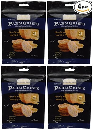 Mini Crisps - Aged Parmesan Gourmet Cheese Crisps 1.75 Oz. Bag By Kitchen  Table Bakers Pack of 4