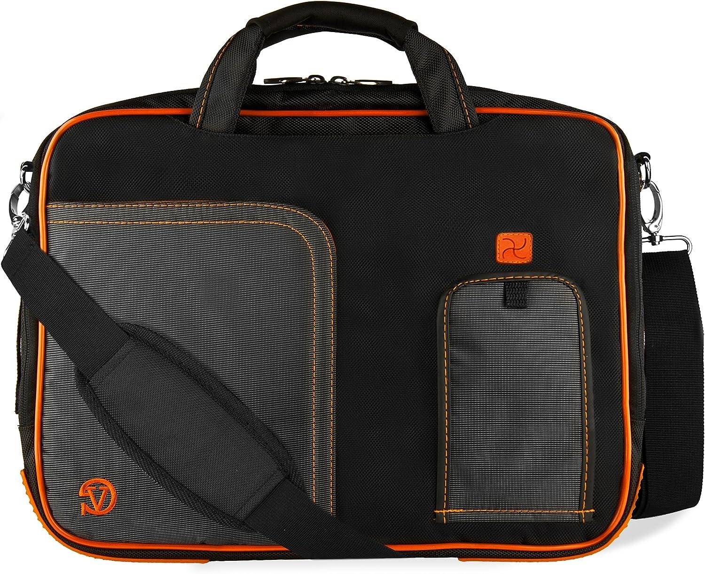 "Orange Trim Laptop Bag for Acer ChromeBook CB515, CB3-431, CB5-571 14"" to 15.6 inch"