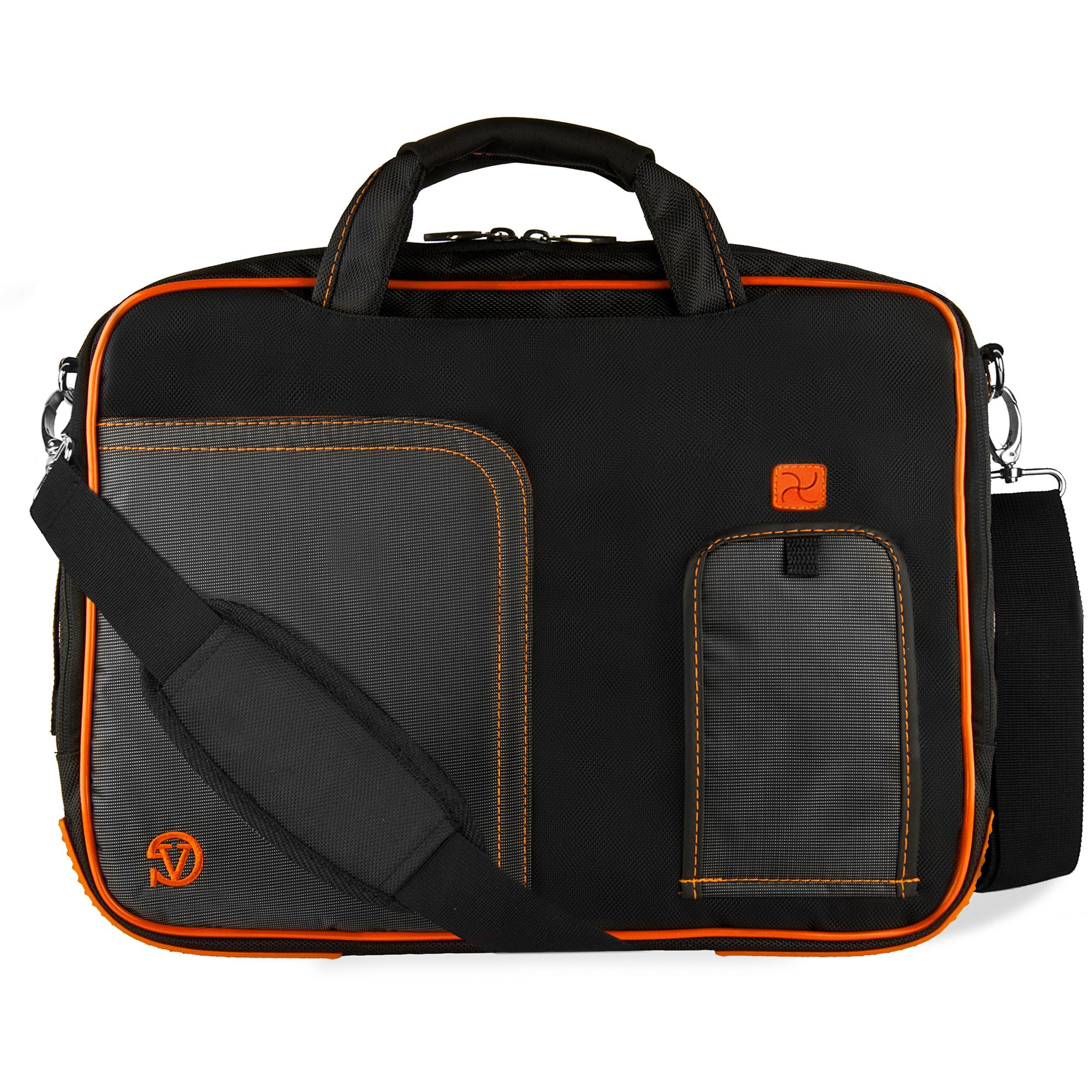 VanGoddy Titan Orange Laptop Messenger Bag for