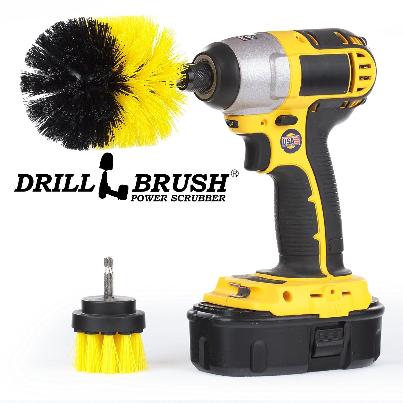 2 Pieceロータリークリーニングdrillbrushes by Drillbrush イエロー B078T14XXZ Yellow-Medium
