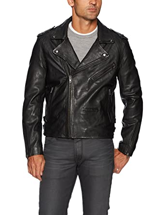 [BLANKNYC] Cross Fade Leather Motorcycle Jacket Outerwear at Amazon Mens Clothing store: