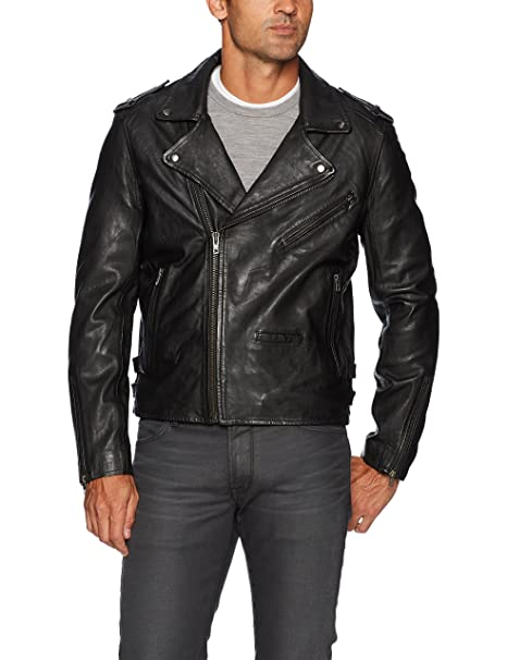 [BLANKNYC] Cross Fade Leather Motorcycle Jacket Outerwear