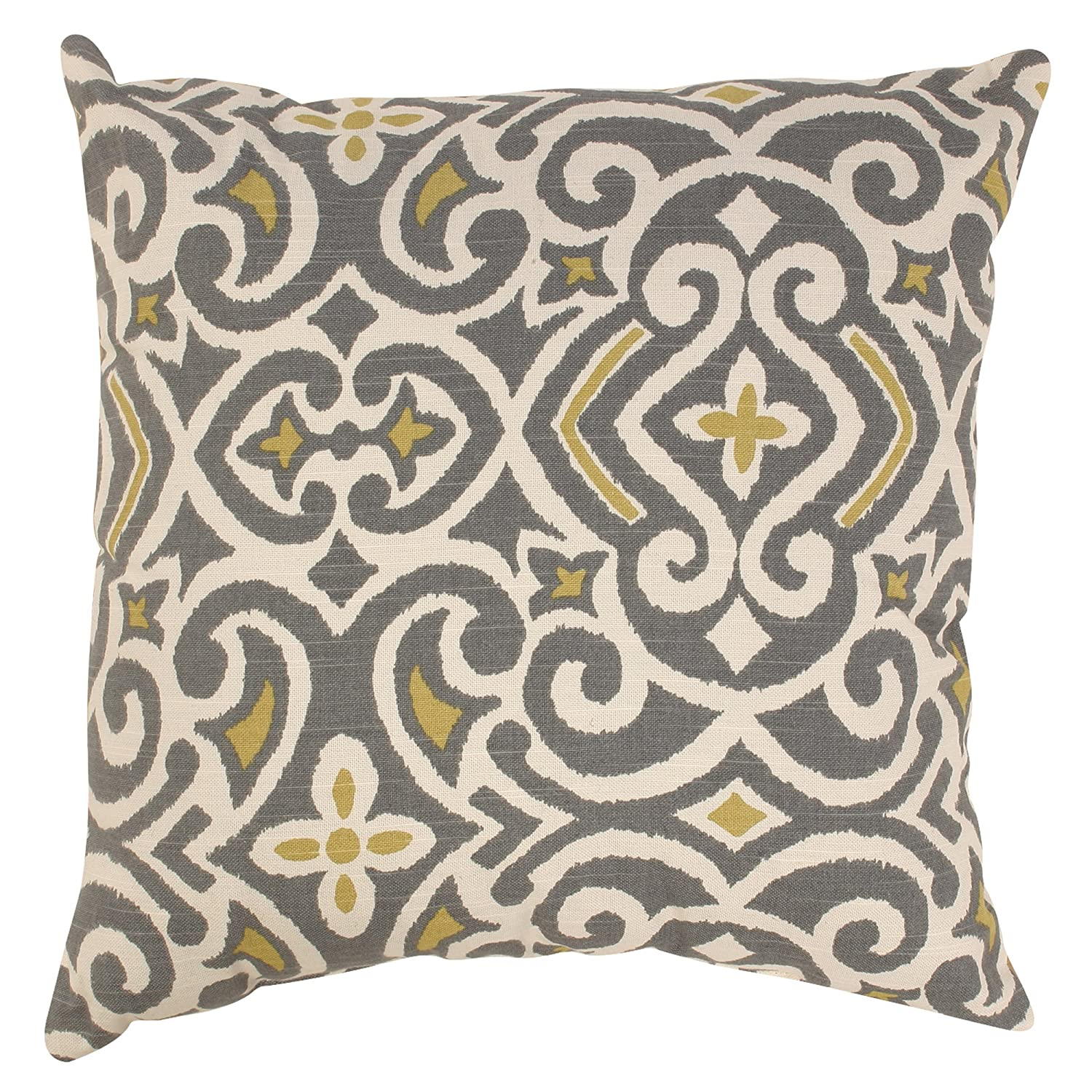 ArtVerse Lisa Yount 14 x 14 Faux Suede Double Sided Print with Concealed Zipper /& Insert Skull Pillow