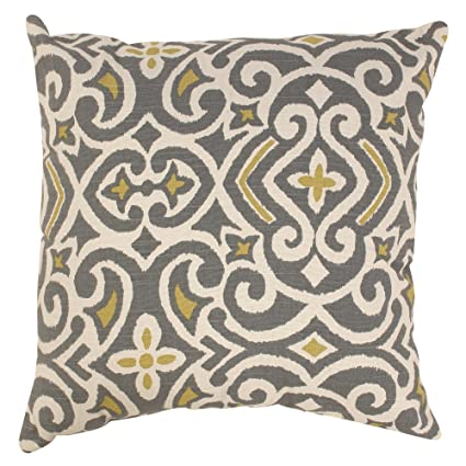 Amazon Pillow Perfect Decorative Damask Square Toss Pillow Magnificent Gray And Yellow Decorative Pillows