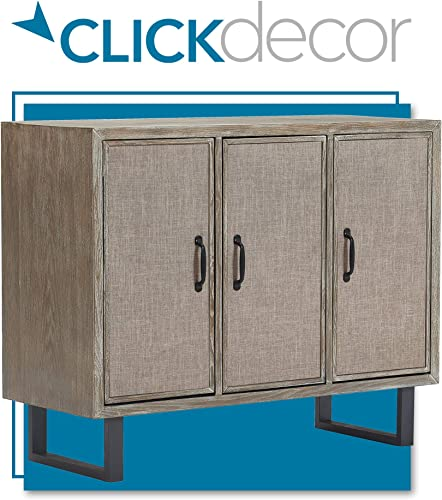 Click D cor Cottage Storage Cabinet, Gray