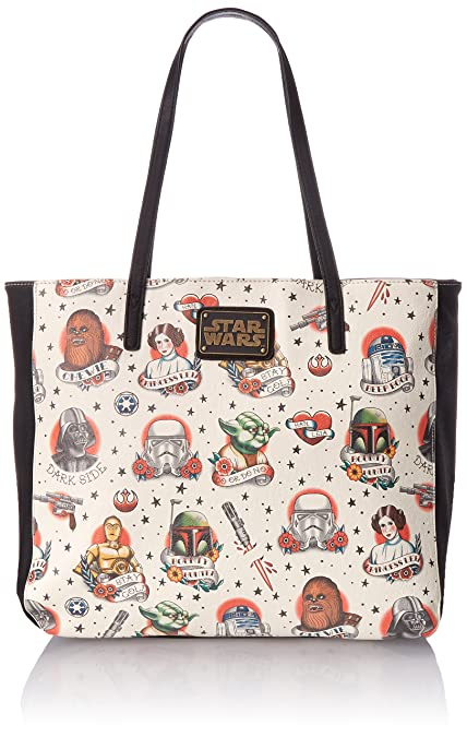 Image Unavailable. Image not available for. Colour  Star Wars Tattoo Flash  Print Faux Leather Tote Bag ac376cada5865