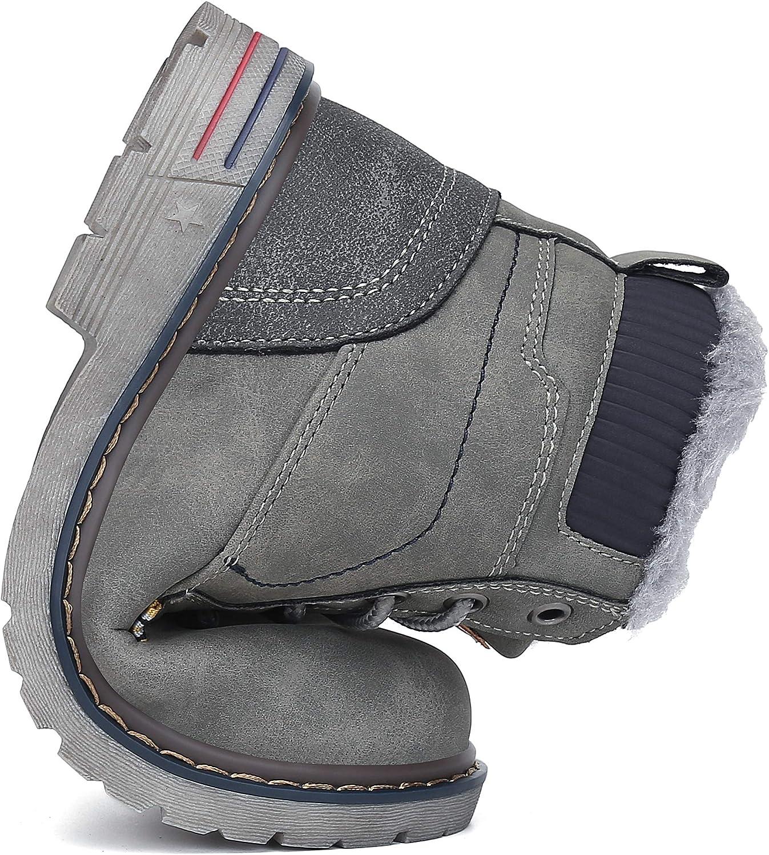 Mishansha Enfant Bottes de Neige Gar/çon Fille Antid/érapantes Chaudes Chaussures Hiver