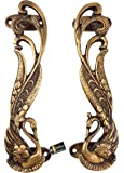 Two Moustaches Peacock Design 7 Inches Brass Door Handle