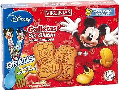 VIRGINIAS - Gallletas mickey mouse sin lactosa y SIN GLUTEN caja 125 gr: Amazon.es: Alimentación y bebidas