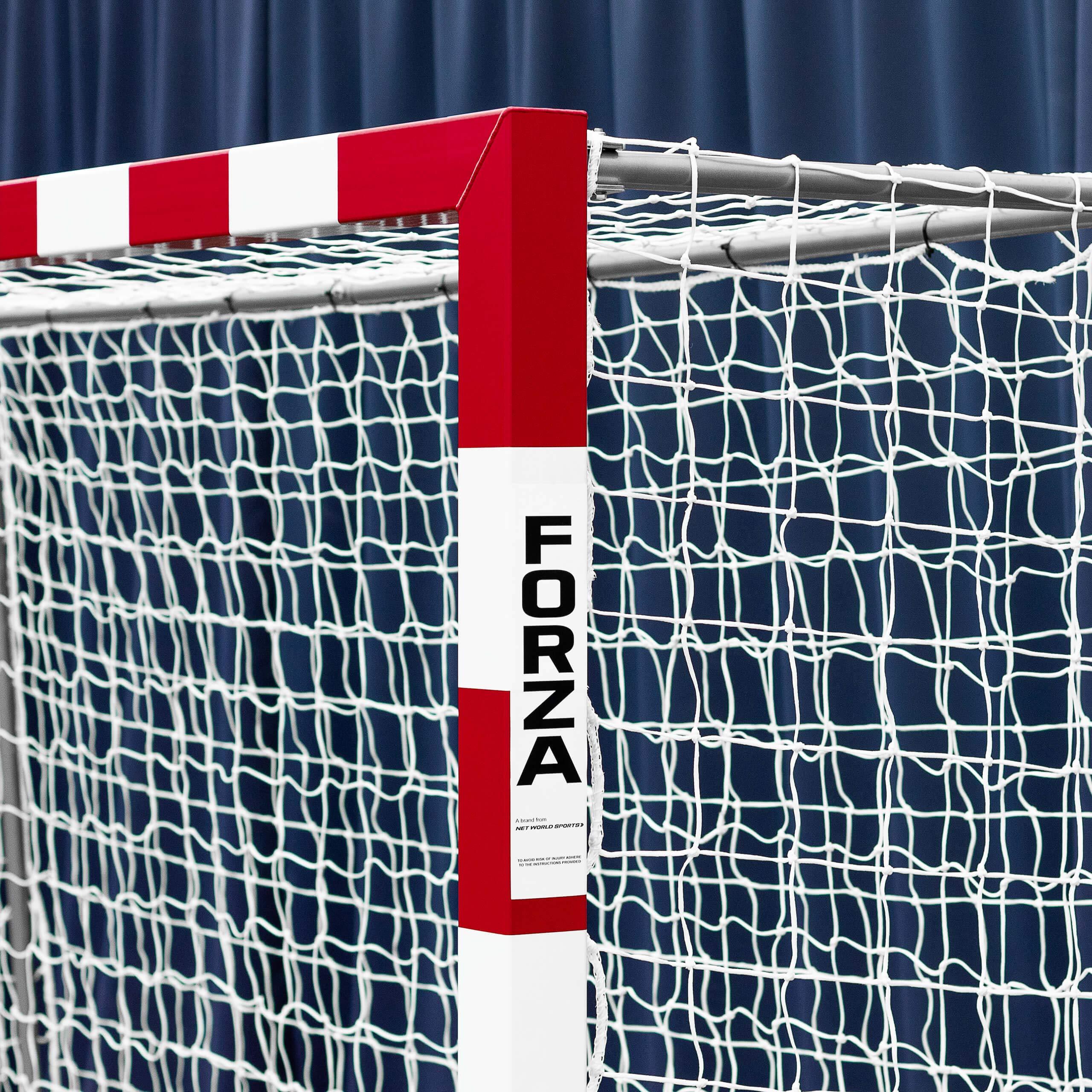 Forza Alu80 Competition Handball Goals | IHF Regulation Size 3m x 2m Handball Goal [Net World Sports] (Pair, Red) by Forza (Image #3)