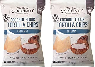 product image for The Real Coconut Grain/Gluten Free Coconut Flour Tortilla Chips 2 Pack (Original)