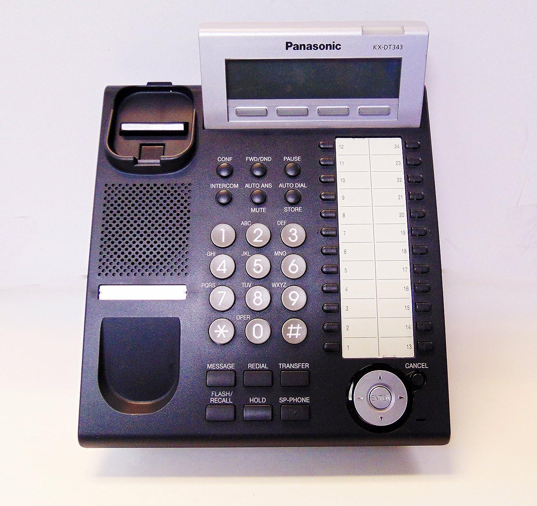 Amazon.com : Panasonic Digital Telephone (KX DT343-B) : Corded Telephones :  Office Products