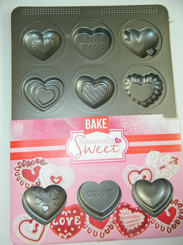 Sweet Creations Non-Stick Heart Cookie Pan by Sweet Creations [並行輸入品] B00IJ0FI8M