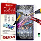 Sony Xperia Z1 Tempered Glass Crystal Clear LCD Screen Protector Guard & Polishing Cloth GSVL37 BY SHUKAN®, (Sony Xperia Z1)