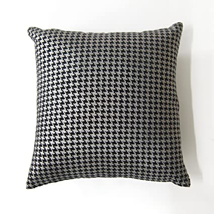 Amazon.com: Best Home Fashion Large Houndstooth Metallic ...