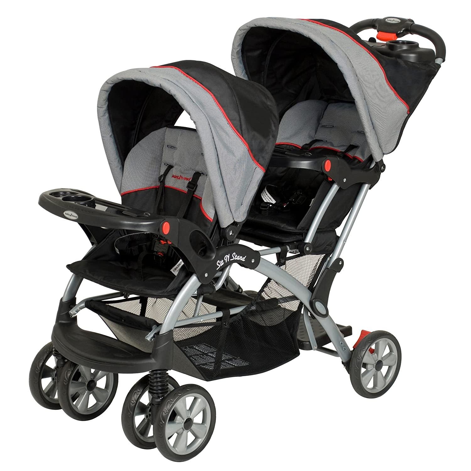 Double buggy for newborn and toddler