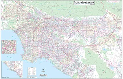 90806 Zip Code Map.Amazon Com Los Angeles Orange County Inland Empire Detailed Region