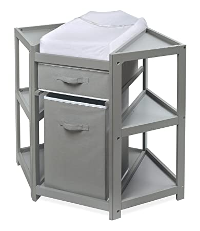 d3009ae6be3 Buy Badger Basket Diaper Corner Baby Changing Table with Hamper and Basket