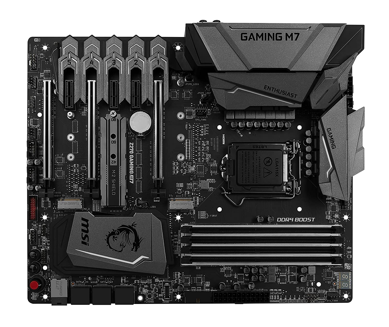 Image result for MSI Enthusiast Z270 Gaming M7 VR Ready Mystic Light RGB ATX Motherboard (Intel Core i3/i5/i7 Processor, LGA 1151, Dual Channel DDR4, USB 3.1, PCI-E 3.0, PCI-E x1, Sata 6 GB)
