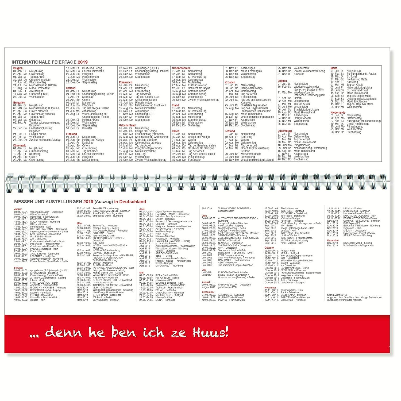 Weihnachten 2019 Köln.Tischquerkalender 2019 Köln Tischkalender 2019 Bürokalender 2019