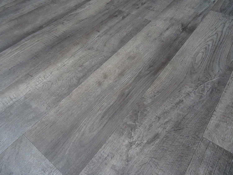 L/änge: 650 cm, Breite: 400cm PVC in Holzplanken-Optik grau von Alpha-Tex 9.95/€//m/²