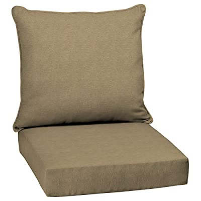 Overstock Arden Selections Tan Hamilton Texture Outdoor Deep Seat Set : Garden & Outdoor