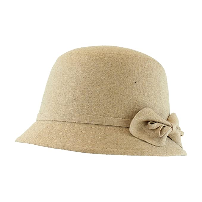 1920s Accessories | Great Gatsby Accessories Guide  Cute Cloche Bucket Hat for Women w/ Side Bow in Winter Fabric - Adjustable Size                               $20.95 AT vintagedancer.com