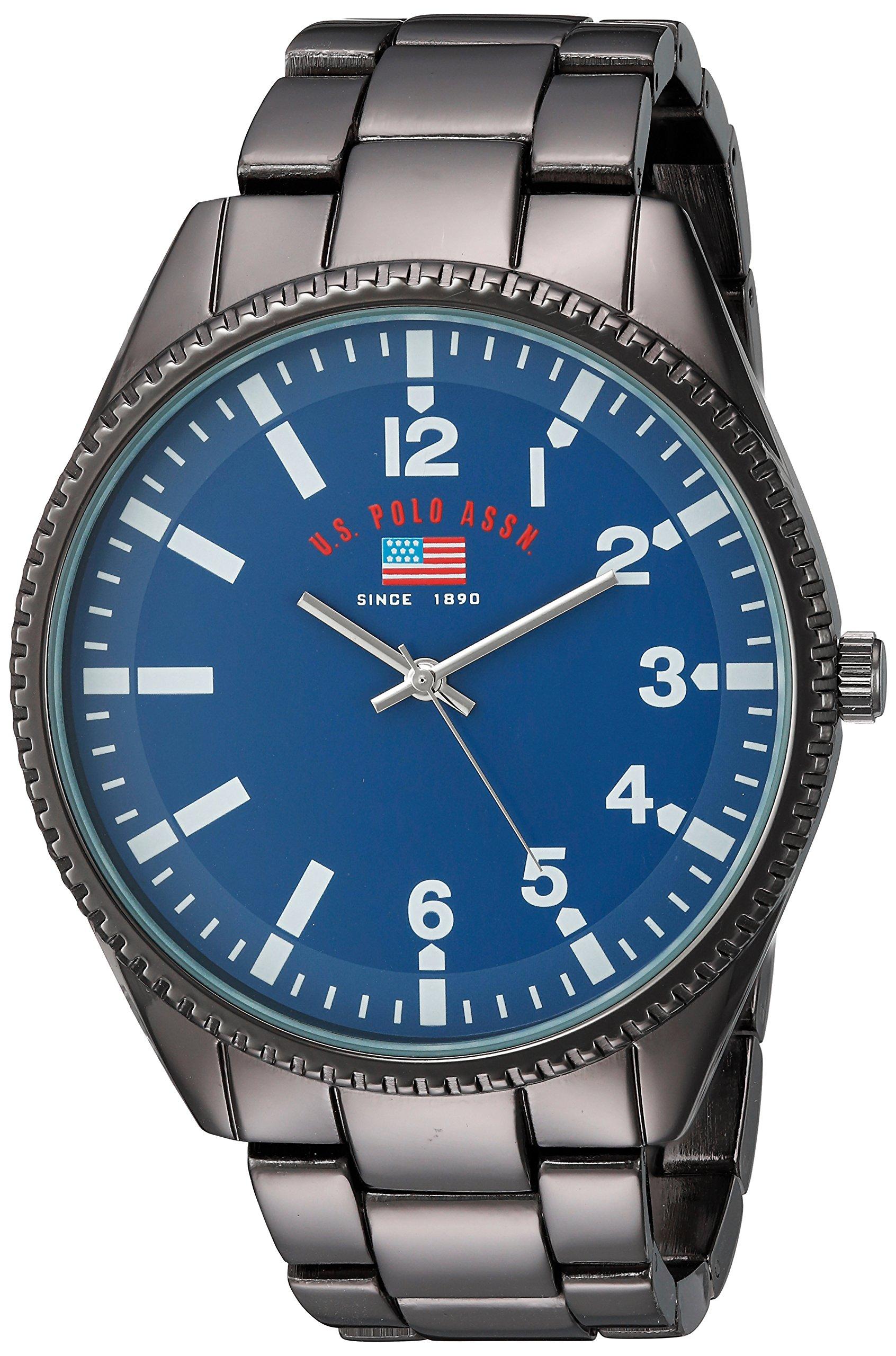 Men's Analog-Quartz Watch with Alloy Strap, Black, 10 (Model: US8641)
