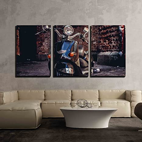 greyscale poster gift wall art home decor Scooter print picture