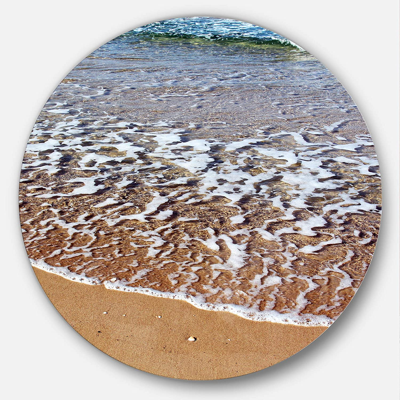 Designart Ashdod Israel Clear Seashore Modern Beach Circle Wall Art Disc of 38 inch 38x38-Disc