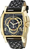 Invicta Men's S1 Rally Quartz Watch with Black Dial Chronograph Display and Black Leather Strap 15796