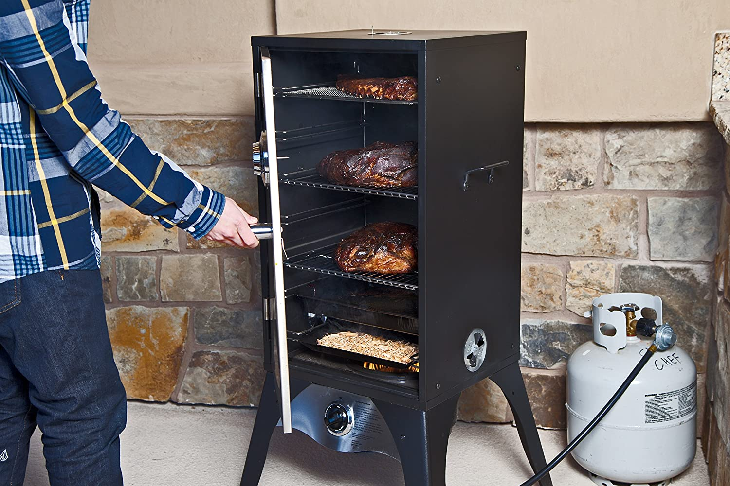 Amazon.com: Camp Chef Smoker - Bóveda de humo grande de 18 ...