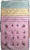 Q.T. Bamboo Women's 12 Pack Beautiful Cotton Handkerchiefs Vintage Inspired