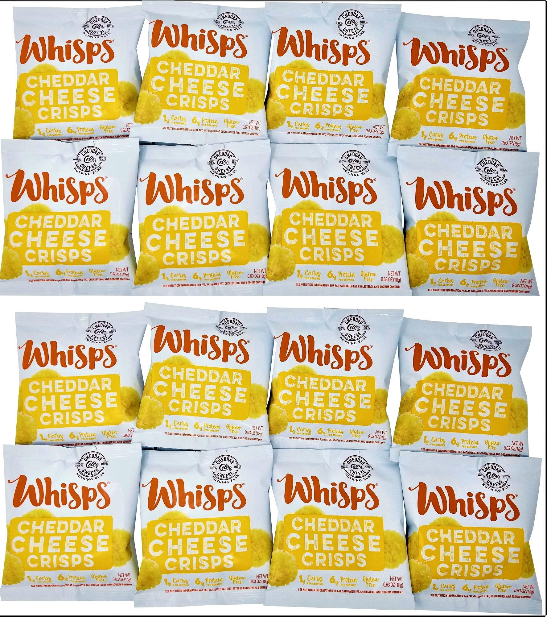 Whisps Cheese Crisps 16 pack (0.63oz) Cheddar