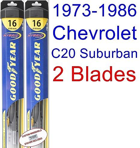 1973 – 1986 Chevrolet C20 de cercanías de repuesto para limpiaparabrisas Set/Kit (Goodyear